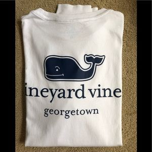 Vineyard Vines White Georgetown LS Tee Shirt XS